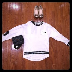 Black and white long sleeve victoria's secret top
